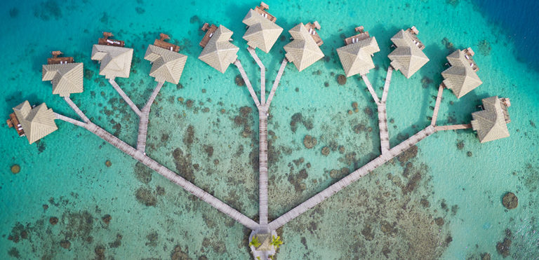 Royal Huahine overwater bungalows