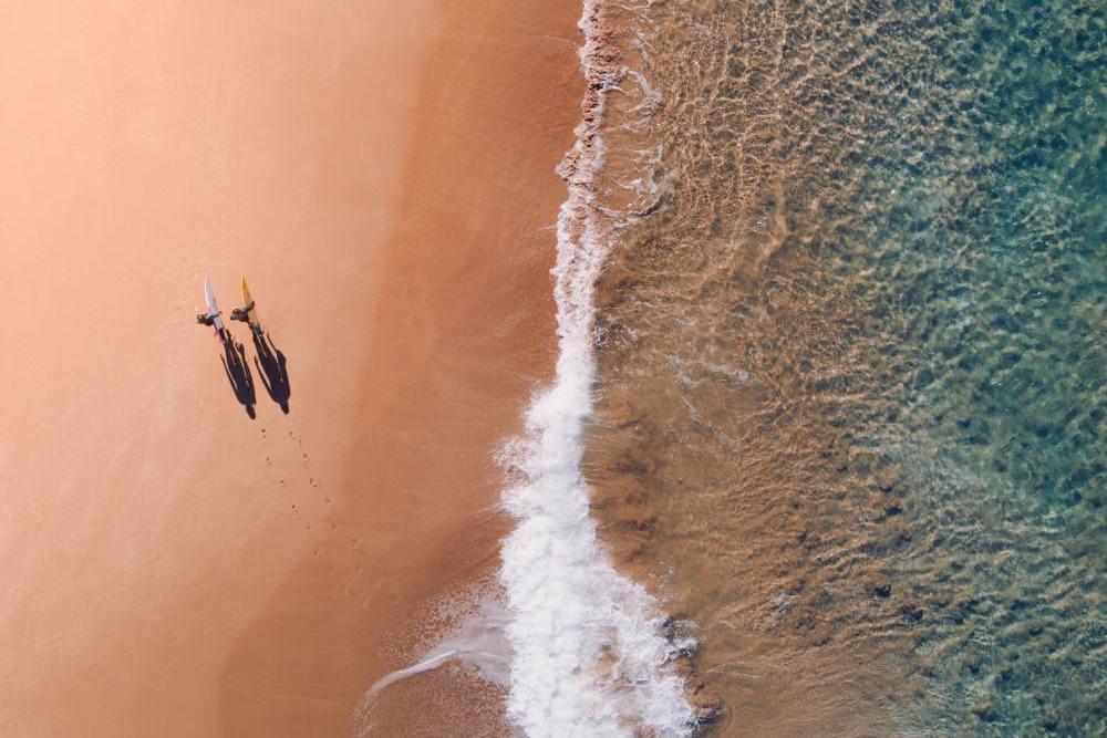 Strand auf Bora Bora, Südsee Inselhopping