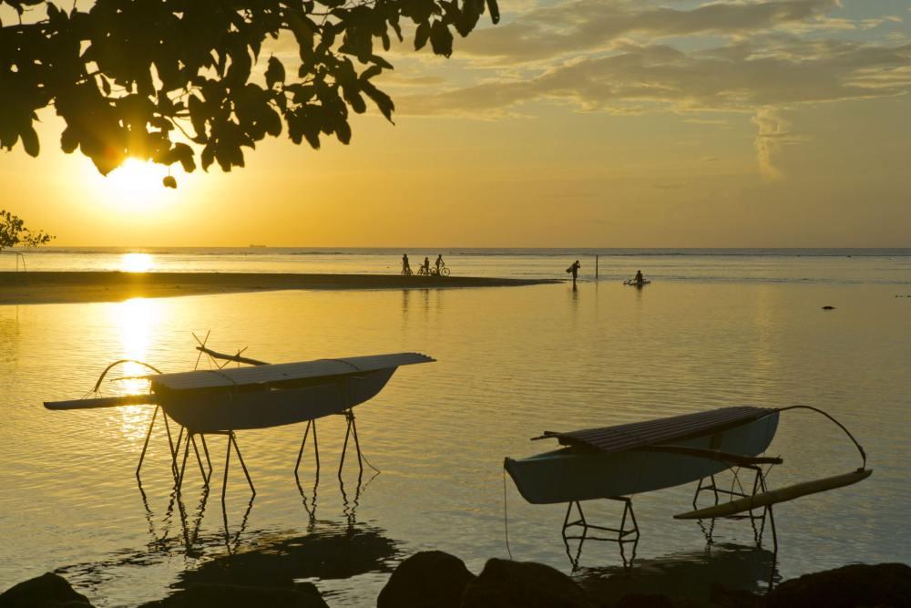 Sonnenuntergang in Tahiti, Südsee Reise