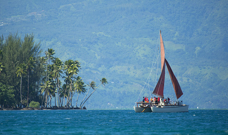 exploring the islands of tahiti on an outrigger