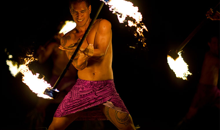 tahitian male dance costume flame spinner