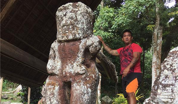 Takaii tiki statue