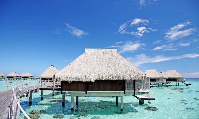 Relaxation in  Moorea and Bora Bora now, not one day with Flights